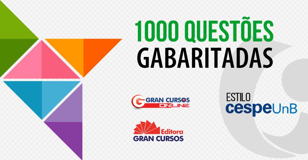 100 questões gabaritadas estilo CESPE