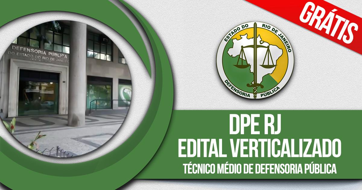 DPE RJ: Técnico Médio de Defensoria Pública