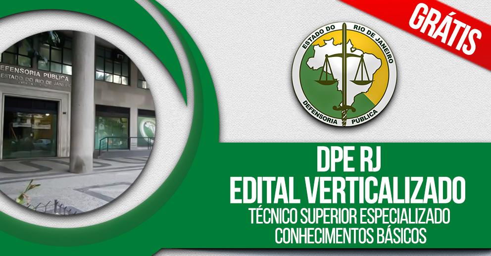 DPE RJ - Edital verticalizado