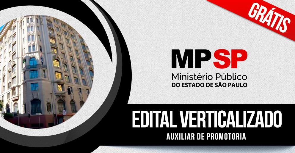 Edital verticalizado: Auxiliar de promotoria I