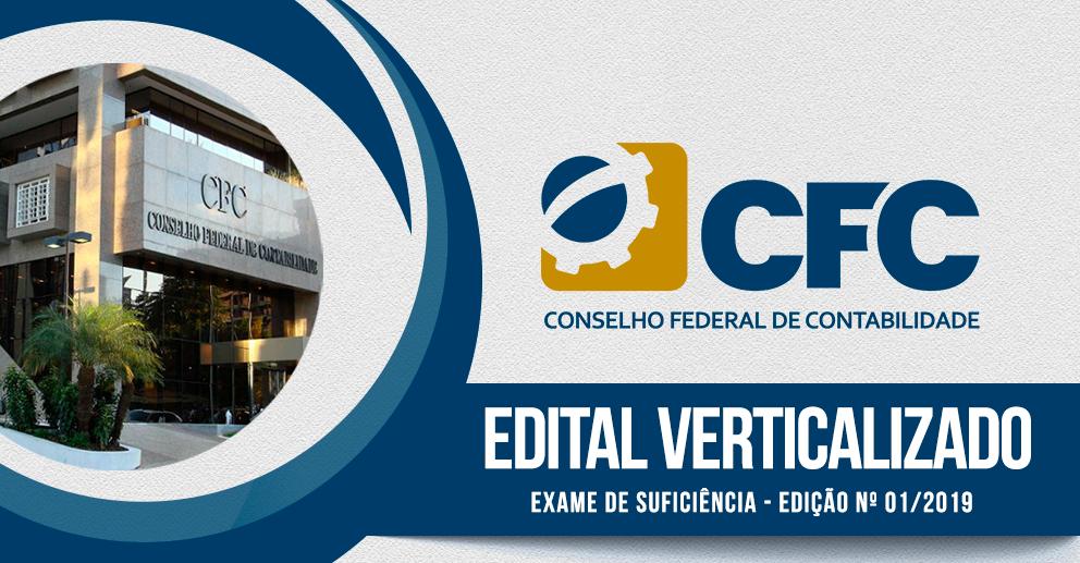 Edital verticalizado - Exame de suficiência - 2019