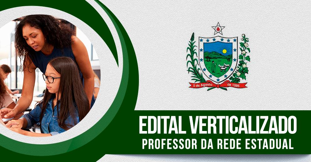 Edital verticalizado: professor da rede estadual