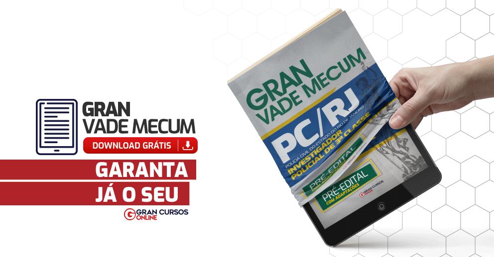 Gran-Vade-Mecum-PCRJ-Investigador-Policial-de-3-Classe-Pre-Edital