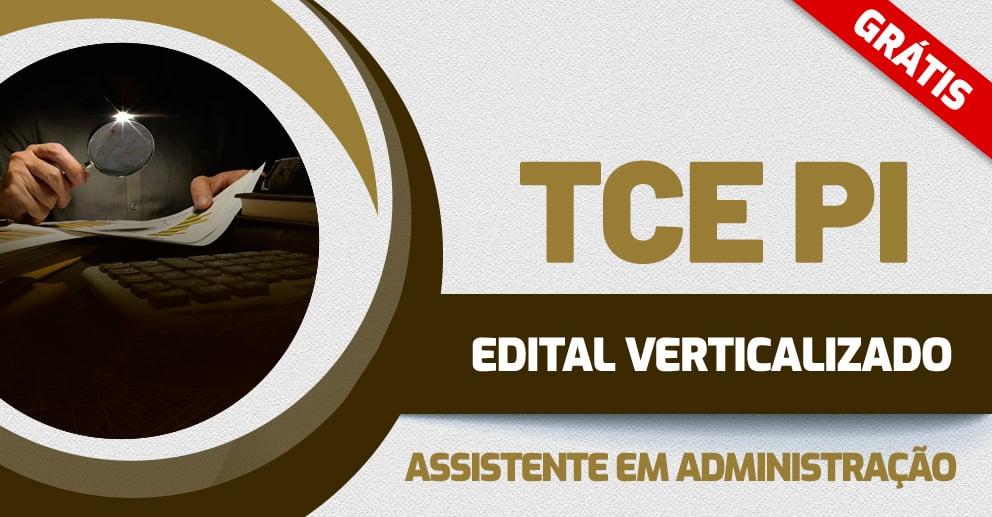 Edital Verticalizado TCE PI