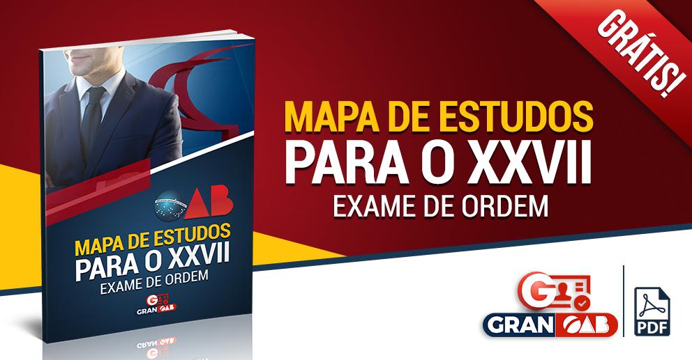 Mapa de estudos - XXVII Exame de Ordem