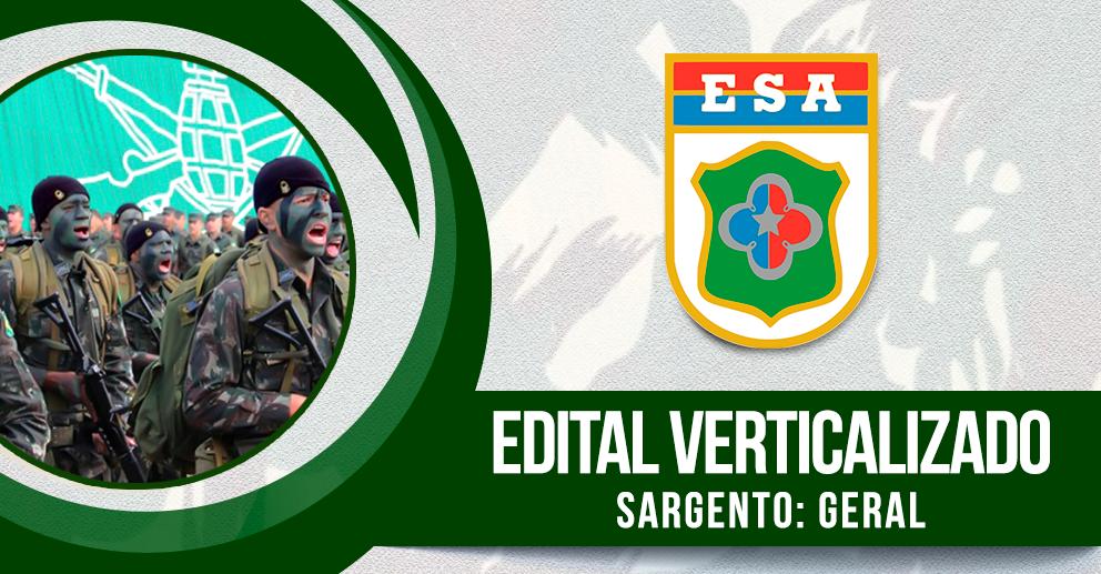 Edital verticalizado - Sargento: Geral