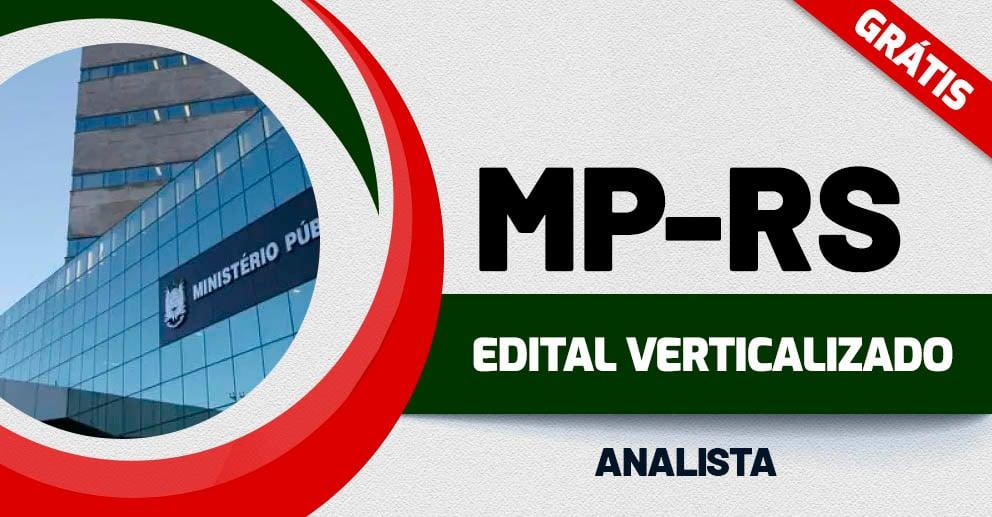 Edital Verticalizado MP RS – Analista