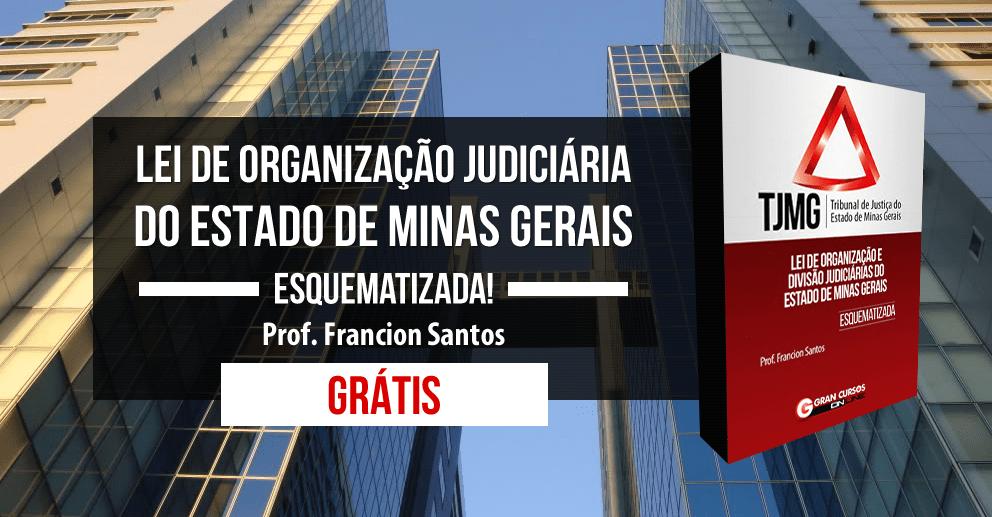 Lei de Organização Judiciária do Estado de Minas Gerais Esquematizada!