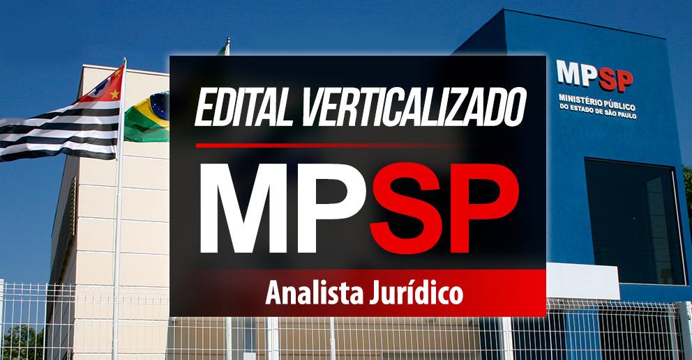 Edital Verticalizado MP/SP - Analista Jurídico
