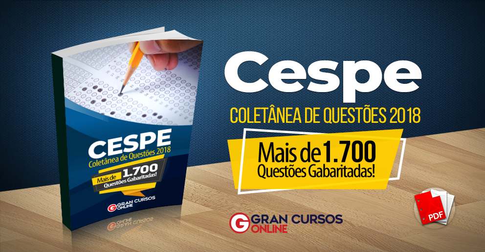 Coletânea de Questões - Cebraspe - 2018